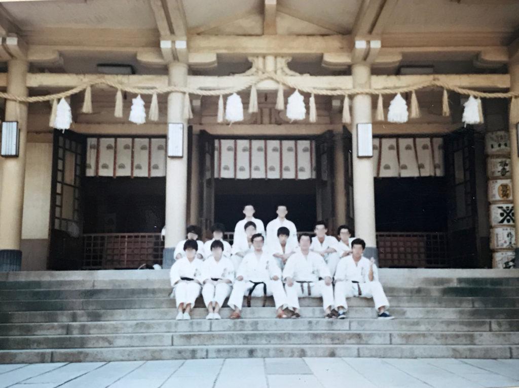 湊川神社での必勝祈願