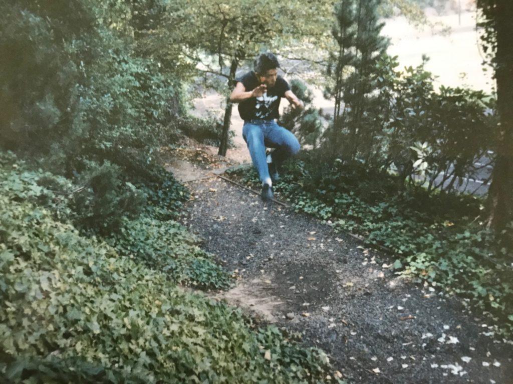 20代前半の二段蹴りの準備姿勢